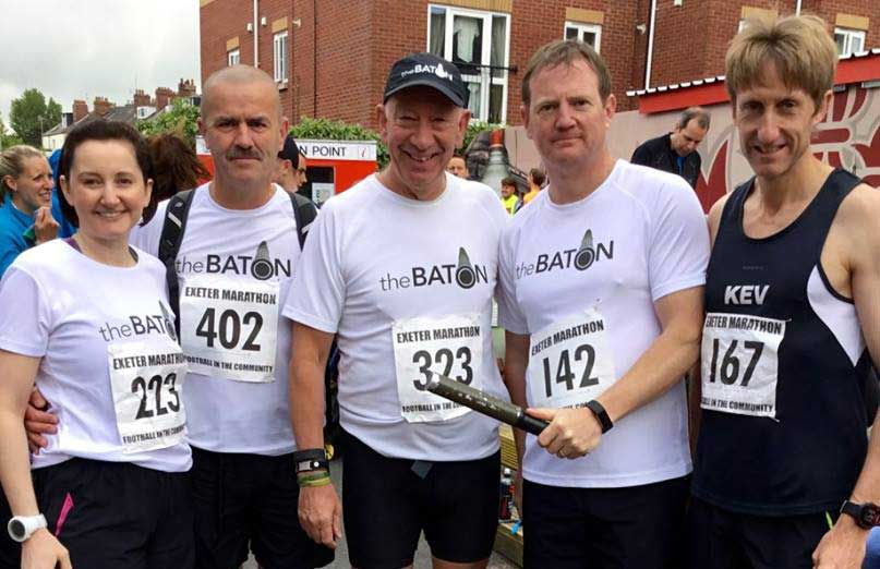 The Baton runs the Exeter Marathon 2017