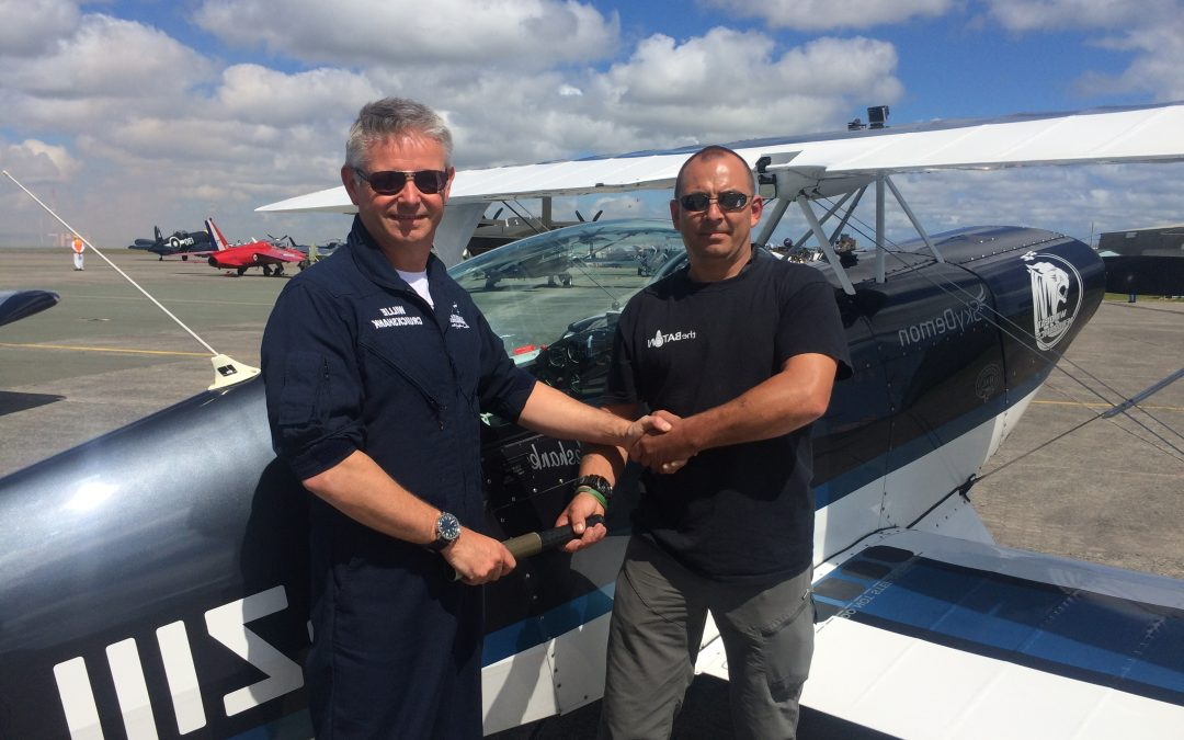 The Dakar Baton flies high with Wildcats Aerobatics