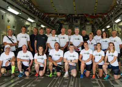 The Team in the back of the C17